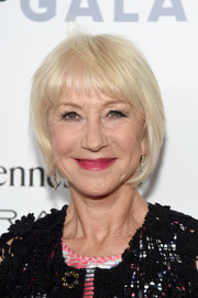 Helen Mirren attended the Chaplin Award Gala sporting a platinum-blonde bob with wispy bangs.
