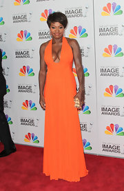 Viola Davis wowed in this revealing gown at the NAACP Image Awards.