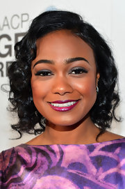 Tatyana Ali's chin-length bob was full of retro-inspired curls at the 2013 NAACP Image Awards.