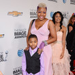 DJ Fyne and Son Antoine at the 44th Annual NAACP Image Awards 2013