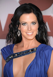 Shawna Thompson oozed sex appeal with her long curly 'do and provocative dress at the CMA Awards.