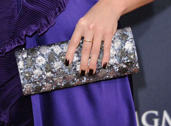 Meghan Linsey opted for dark polish at the Academy of Country Music Awards.