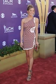 LeAnn Rimes looked artistic in this single-shoulder mesh number at the Academy of Country Music Awards.