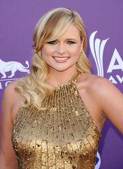 Miranda Lambert styled her hair in a pretty waves and swept her long bangs off to the side for the 47th Annual Academy of Country Music Awards.