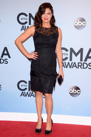 Angaleena Presley opted for a lace-panel LBD instead of a gown when she attended the CMA Awards.