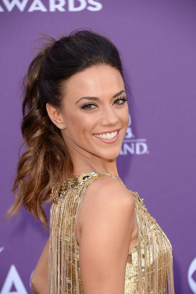 Singer Jana Kramer arrives at the 48th Annual Academy of Country Music