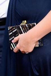 Hillary Scott topped off her elegant red carpet look with this iridescent clutch that was reminiscent of the '20s.