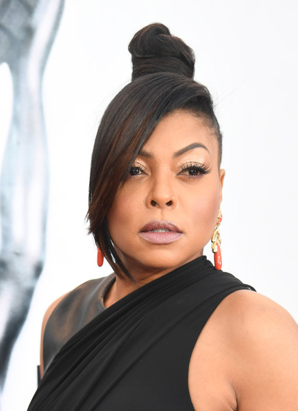 Taraji P. Henson attended the NAACP Image Awards rocking a top knot with emo bangs!