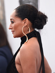 Tracee Ellis Ross swept her hair back into a curly bun for the NAACP Image Awards.