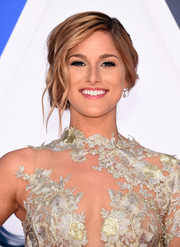 Cassadee Pope got all glammed up with this textured side chignon for the CMA Awards.