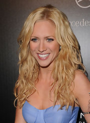 Brittany Snow styled her blond locks into tousled curls at the Hollywood Domino Gala.