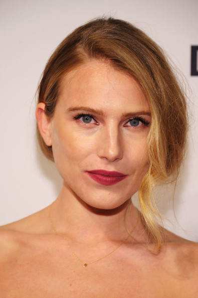 Dree Hemingway pulled bad her locks into a simple updo for the amfAR Inspiration Gala New York.