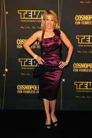 Ramona Singer wore a purple halter dress to a 50 & Fabulous event in New York City.