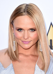 Miranda Lambert sweetened up her look with a pink lip.