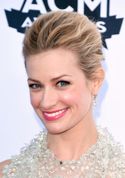 Beth Behrs brushed her hair back into a loose bun for the Academy of Country Music Awards.