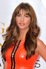 Jacqueline MacInnes Wood sported a hip wavy 'do with bangs at the Monte Carlo TV Festival closing ceremony.