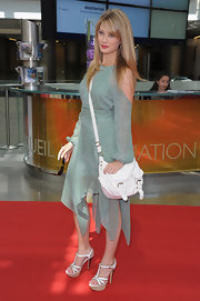Kim Matula carried a casual purse at the Monte Carlo TV Fest.