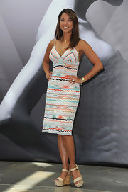 Eva la Rue looked foxy at the Monte Carlo TV Festival in her colorful print dress.