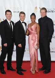 Regina King looked glam and sophisticated in a silky pink wrap gown at the Monte Carlo TV Festival closing ceremony.
