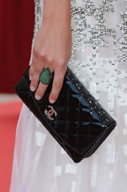 Amaia Salamanca wore matching jewelry at the Monte Carlo TV fest - a pair of statement earrings and a gorgeous teardrop-shaped cocktail ring.
