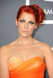 Bonnie McKee pulled her fiery red locks up in a sleek bun at the 2011 Grammy Awards.