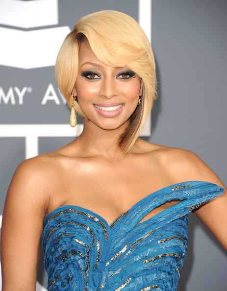 More Pics of Keri Hilson Strapless Dress (5 of 6) - Dresses & Skirts Lookbook - StyleBistro [keri hilson,hair,face,blond,hairstyle,shoulder,clothing,dress,beauty,eyebrow,long hair,annual grammy awards,staples center,los angeles,california]