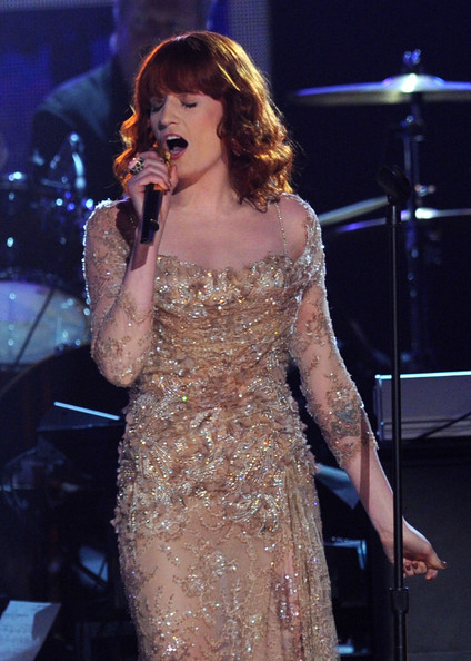 More Pics of Florence Welch Evening Dress (3 of 16) - Dresses & Skirts Lookbook - StyleBistro [florence welch,performance,entertainment,music artist,singer,singing,performing arts,music,event,song,public event,annual grammy awards,show,california,los angeles,staples center]