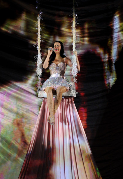 More Pics of Katy Perry Corset Dress (1 of 17) - Dresses & Skirts Lookbook - StyleBistro [dress,lady,beauty,fashion,gown,tree,haute couture,blond,performance,event,california,los angeles,staples center,annual grammy awards,show,signer katy perry]