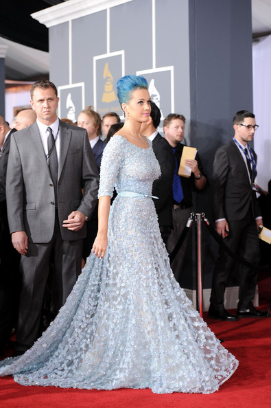 More Pics of Katy Perry Diamond Bracelet (5 of 25) - Bracelets Lookbook - StyleBistro [red carpet,dress,gown,carpet,flooring,clothing,fashion,premiere,shoulder,event,arrivals,katy perry,staples center,los angeles,california,54th annual grammy awards]