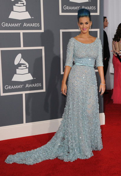 More Pics of Katy Perry Diamond Bracelet (1 of 25) - Bracelets Lookbook - StyleBistro [red carpet,carpet,clothing,dress,fashion model,gown,flooring,fashion,premiere,haute couture,arrivals,katy perry,staples center,los angeles,california,54th annual grammy awards]