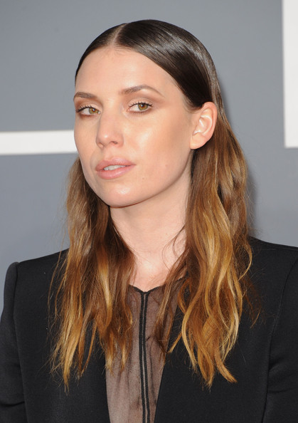 More Pics of Lykke Li Pantsuit (1 of 3) - Lykke Li Lookbook - StyleBistro [hair,face,hairstyle,eyebrow,chin,brown hair,lip,long hair,beauty,cheek,arrivals,lykke li,staples center,los angeles,california,54th annual grammy awards]