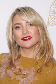 Kate Hudson sported a chic layered cut with side-swept bangs at the 2017 International Cinematographers Guild Publicists Awards.