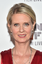 Cynthia Nixon styled her short hair into a mildly messy 'do for the New York Film Festival premiere of 'A Quiet Passion.'