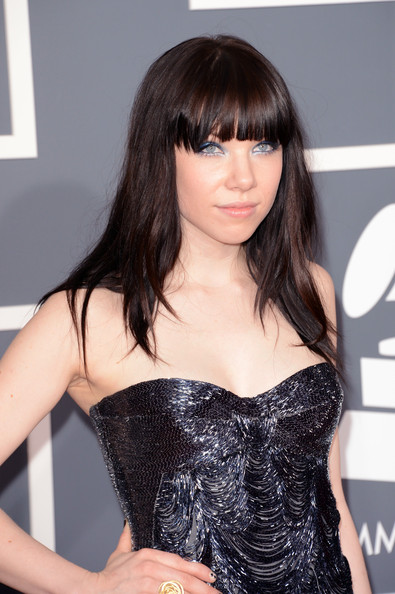 More Pics of Carly Rae Jepsen Long Straight Cut with Bangs (5 of 10) - Carly Rae Jepsen Lookbook - StyleBistro