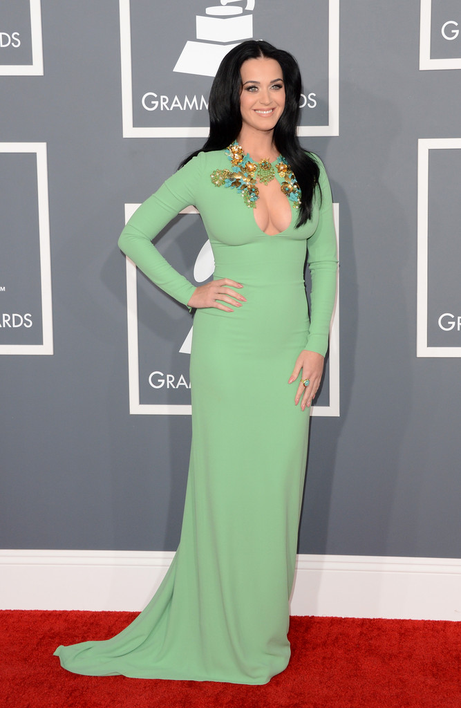 Singer Katy Perry arrives at the 55th Annual GRAMMY Awards at Staples Center on February 10, 2013 in Los Angeles, California.