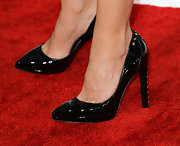 Faith Hill's heels added more pizazz to the singer's look with gold studs on the heel.