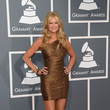 Nancy O'Dell Wears David Meister at the Grammy Awards 2013