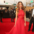 Red Azzedine Alaia at the 2013 Grammys