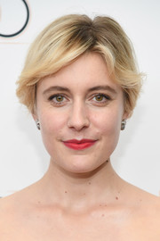Greta Gerwig kept it super simple with this short side-parted 'do at the New York Film Festival screening of 'Lady Bird.'
