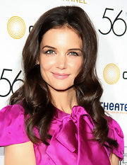 Katie Holmes styled her hair in long curls for the Annual Drama Desk Awards.