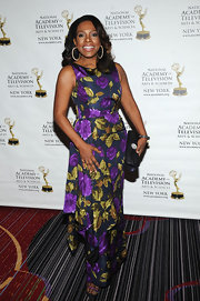Sheryl Lee Ralph chose a vibrant floral-print dress for her look at the New York Emmy Awards.