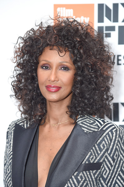 Iman looked gorgeous with her high-volume curls at the New York Film Festival screening of 'The Times of Bill Cunningham.'