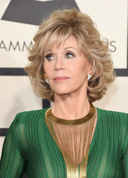 Jane Fonda attended the Grammys wearing her hair in a curled-out bob.