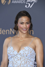 Paula Patton sported a short wavy cut with a pompadour top at the Monte Carlo TV Festival closing ceremony.