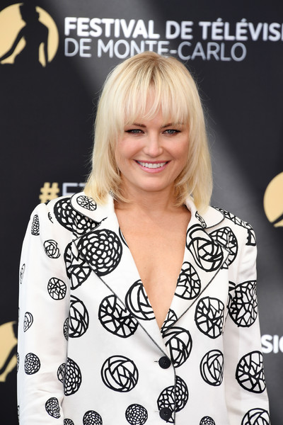 More Pics of Malin Akerman Pantsuit (2 of 6) - Suits Lookbook - StyleBistro [billions,hair,hairstyle,blond,premiere,bangs,photography,black-and-white,smile,style,malin akerman,photocall,monte-carlo,monaco,monte carlo tv festival]