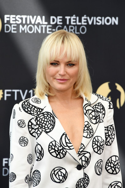 More Pics of Malin Akerman Pantsuit (5 of 6) - Suits Lookbook - StyleBistro [billions,hair,hairstyle,blond,bangs,premiere,long hair,black-and-white,style,smile,malin akerman,photocall,monte-carlo,monaco,monte carlo tv festival]