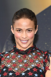 Paula Patton sported a simple brushed-back ponytail on day 4 of the Monte Carlo TV Festival.