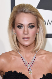 Carrie Underwood amped up the glamour with a ruby and yellow diamond chandelier necklace by Johnathon Arndt.