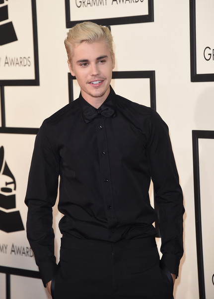 More Pics of Justin Bieber Boy Cut (4 of 52) - Short Hairstyles Lookbook - StyleBistro [clothing,fashion,white-collar worker,dress shirt,suit,formal wear,collar,shirt,outerwear,sleeve,arrivals,justin bieber,grammy awards,staples center,los angeles,california,58th grammy awards]