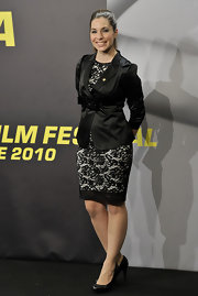 Leire Martinez donned a lace dress a the 58th San Sebastian Film Fest.